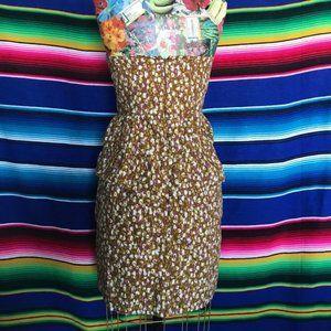 J Crew Tiered Ruffle Strapless Dress Peplum Floral
